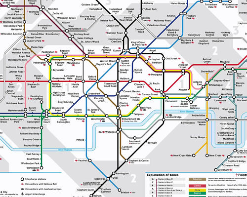London Tube Map Rings