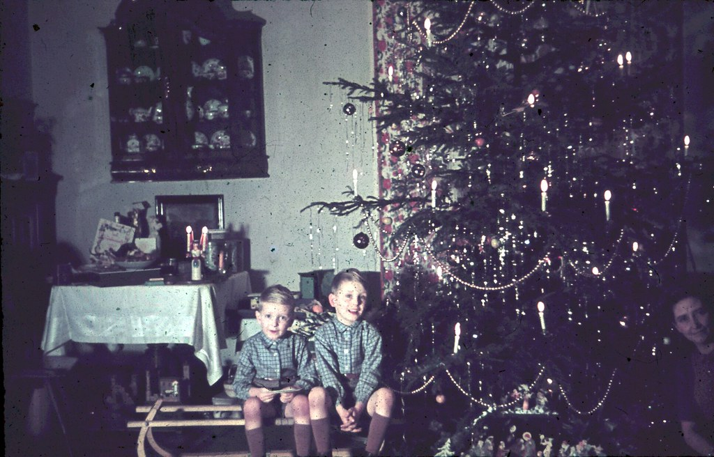 weihnachten ca 1940 german christmas ca 1940 two. Black Bedroom Furniture Sets. Home Design Ideas