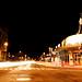 coolidge corner at night - harvard st southbound