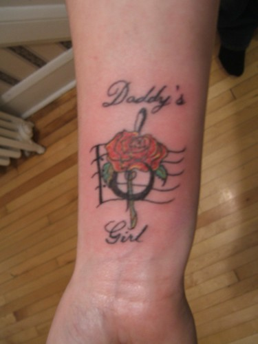 My tattoo in memory of my dad who passed away jan 21st for Tattoos for dad that passed away