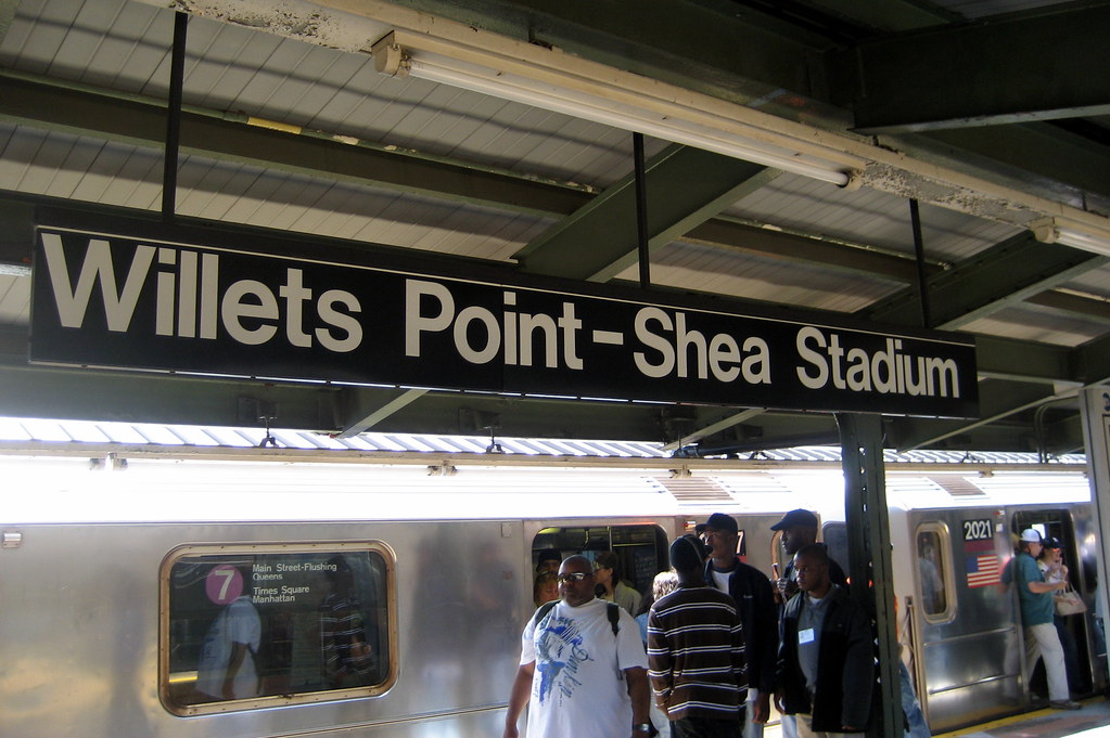 Nyc Queens Flushing Willets Point Shea Stadium Subway