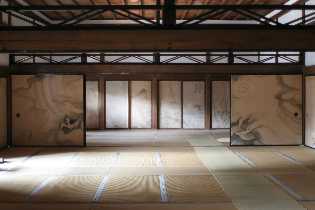 Japanese tatami room at ryoanji here is the tatami - Tatami japones ...