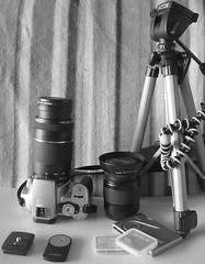 My CanonEOS400D and Gear, B&W