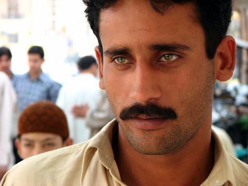 Man With Green Eyes Zainab Market Karachi Pakistan