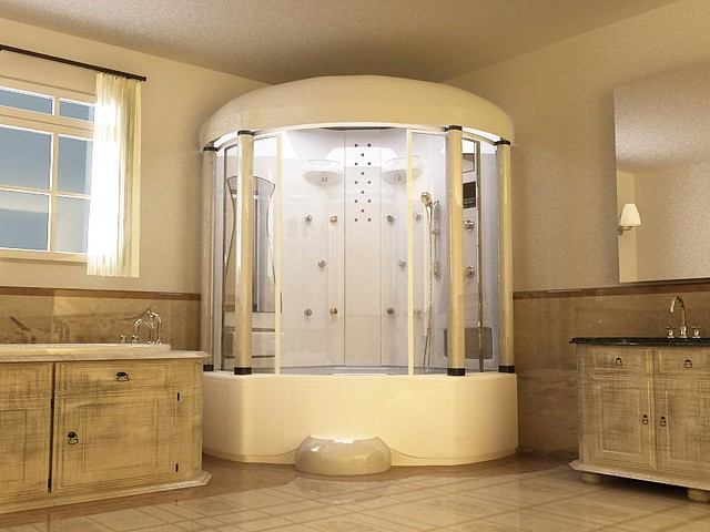Bathroom Shower Bathtub Combination This Bathroom