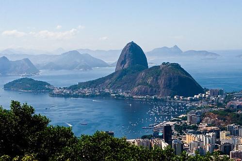 pao de acucar Sugarloaf mountain (portuguese: pão de açúcar pronounced [ˈpɐ̃w̃ d͡ʒi aˈsukaʁ]) is a peak situated in rio de janeiro, brazil, at the mouth of guanabara bay on a peninsula that juts out into the atlantic ocean.