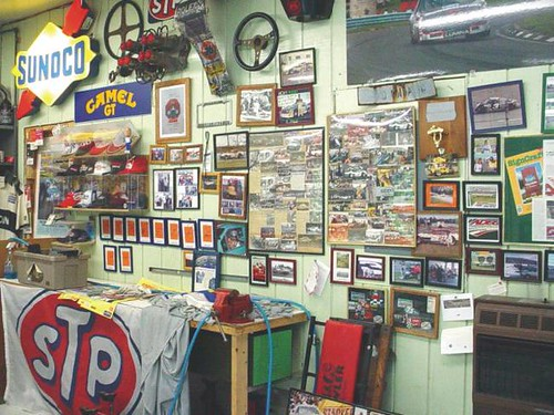 Tony's Photo Wall in his shop | by Sally Ann