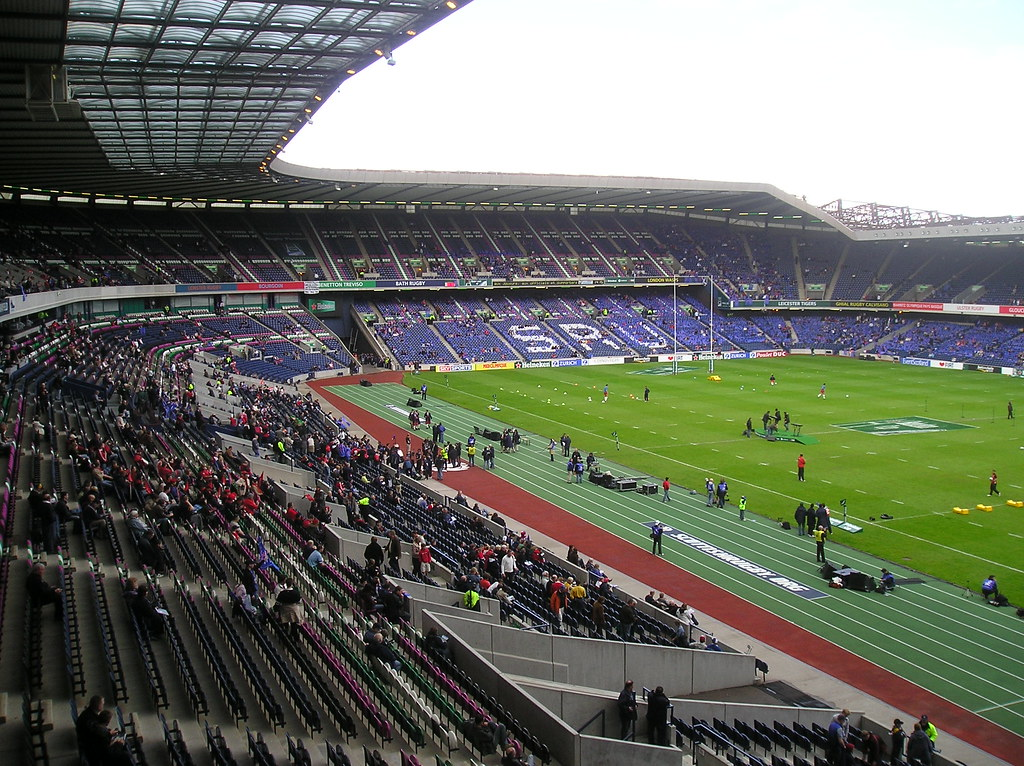 murrayfield edinburgh pre match view from the west. Black Bedroom Furniture Sets. Home Design Ideas