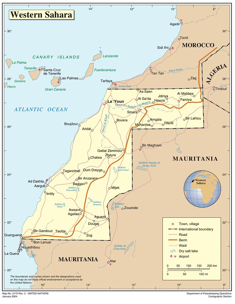 Western Sahara Map United Nations Map Of Western Sahara C Flickr - Western sahara map