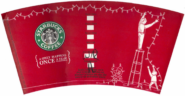 Starbucks 39 red cup 39 2005 lights no 372ut 0014 12oz for Starbucks create your own tumbler blank template