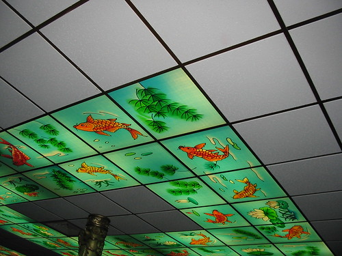 Some of the ceiling tiles at Chinese Village | by vj_pdx