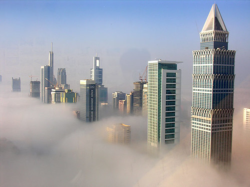 Fog at sunrise in Dubai | by Harry Lambert