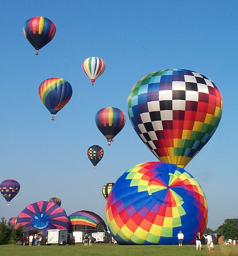 hot-air ballooning - stages of the liftoff (2003) | by Steve from NJ