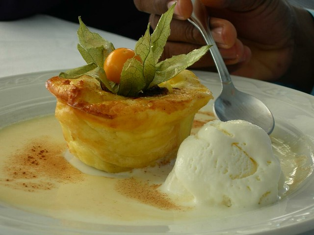 Champers - Warm Bread Pudding with Bajan Rum Sauce | Flickr