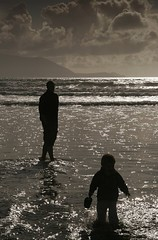 Father and son in the water | by Donncha Ó Caoimh