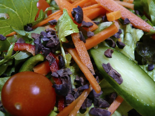 Salad with cocoa nibs | Got fresh cocoa nibs and tried ...