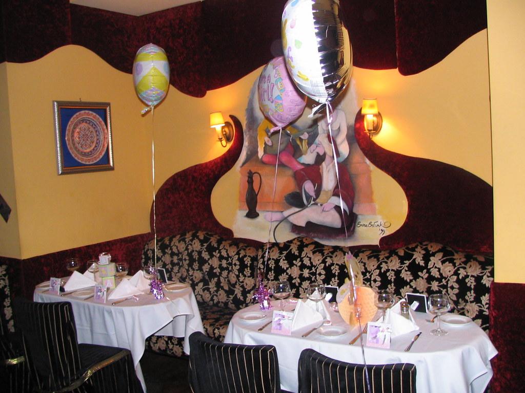 baby shower tables at dervish turkish restaurant nyc flickr