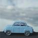 mi coche azul