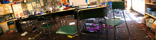 Panorama of an Extremely Messy Classroom | by jenicra84