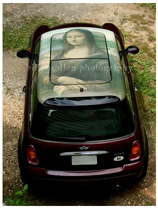2002 Mini Cooper with roof top  Mona Lisa | by bill mcallen