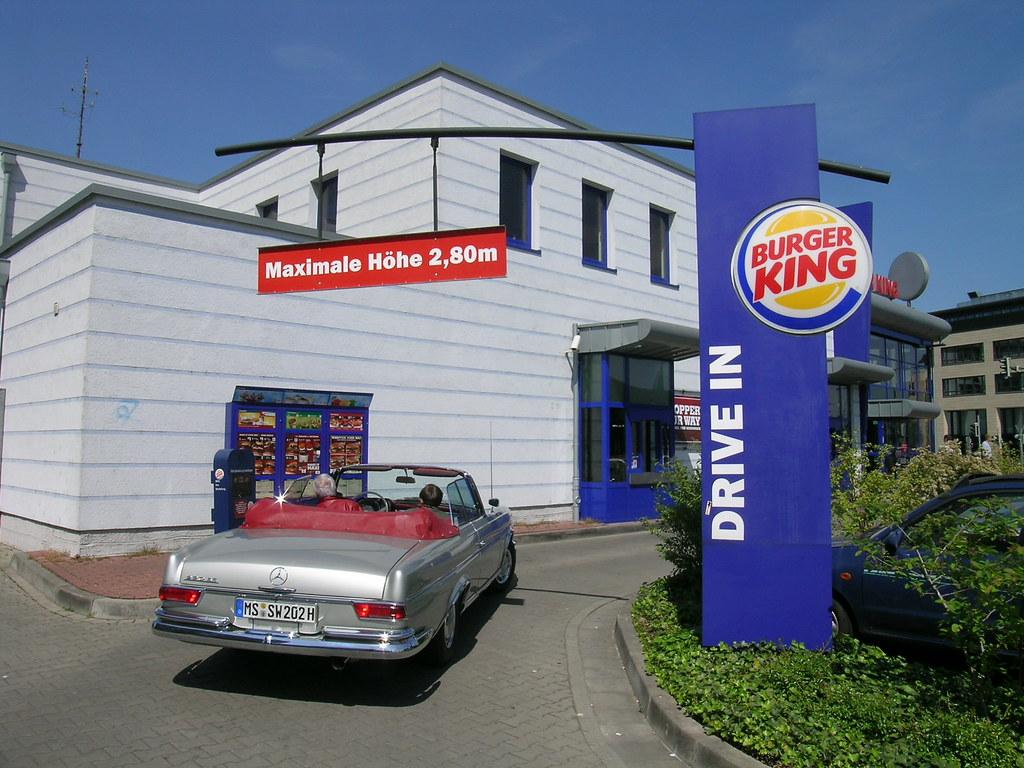 burger king rheine germany an open mercedes spotted in flickr. Black Bedroom Furniture Sets. Home Design Ideas