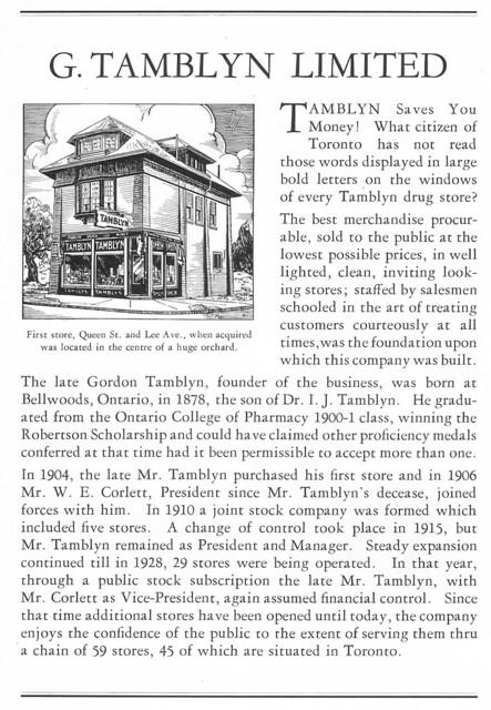 Vintage Ad #194 - G. Tamblyn 1934