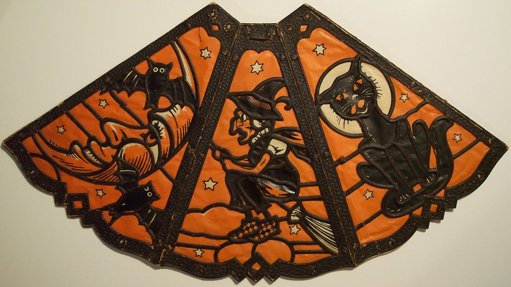Vintage german halloween diecut lamp shade with insert si flickr vintage german halloween diecut lamp shade with insert side a by riptheskull aloadofball Images