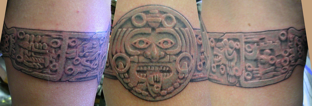 Aztec Band Tattoos Aztec calander ...