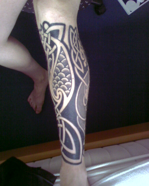 celtic tattoo left lower leg part 2 had the lion done firs flickr. Black Bedroom Furniture Sets. Home Design Ideas