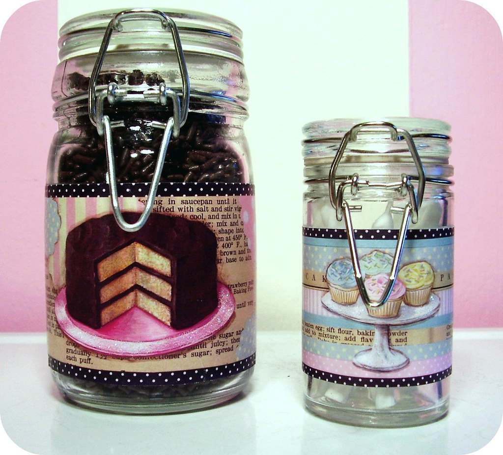 ... Jars I Made For The Vintage Kitchen Swap (handmade/painted Labels) | By