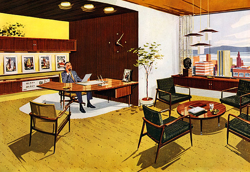 50s Executive Office An Advertisement For Furniture From