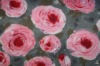 Vintage Flannel Rose Fabric | by Sarodeo