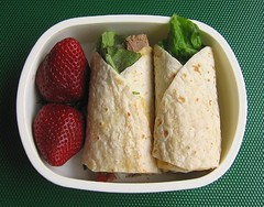 Lamb & hummus wrap lunch | by Biggie*