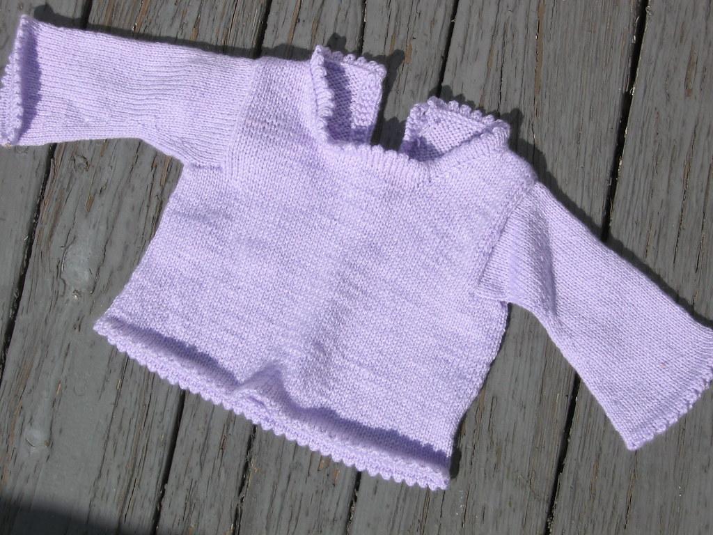 Purple Picot Edge Sweater