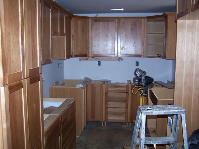 Kitchen Remodel Microwave Shelf