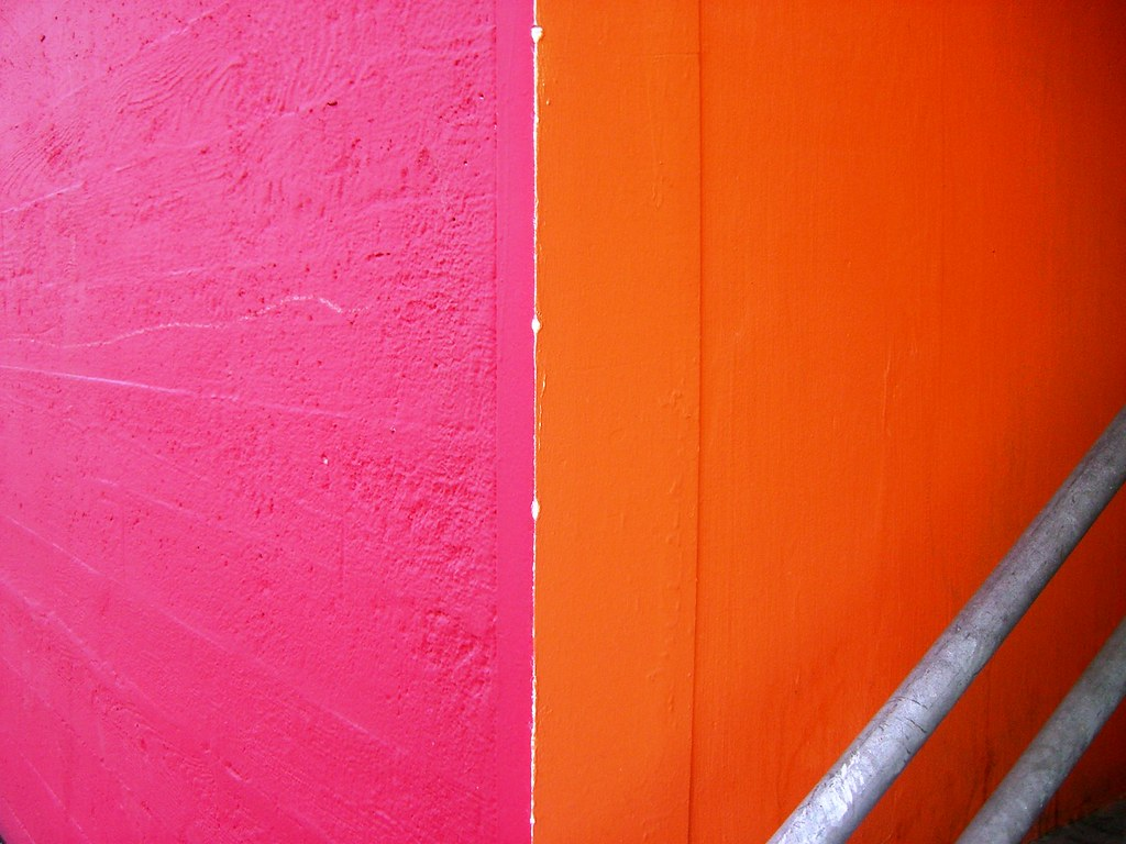 by A National Acrobat Pink and orange walls. | by A National Acrobat
