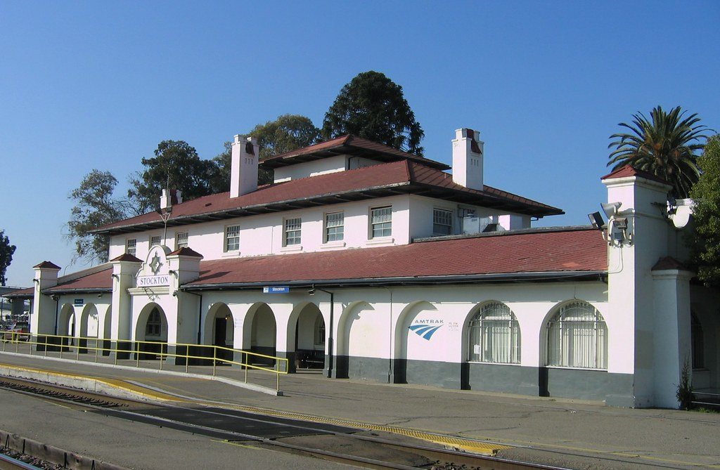 stockton ca atampsf train station former santa fe