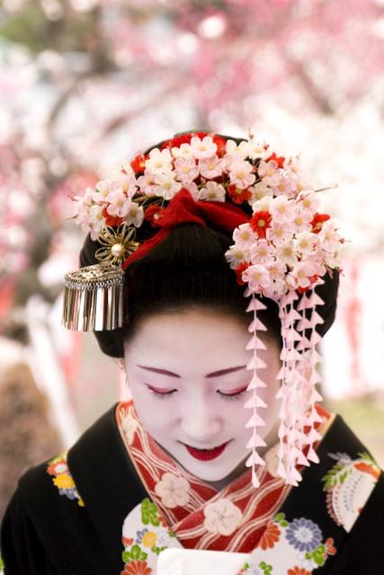 花簪 Hana Kanzashi Baika Sai Ume Festival Kitano