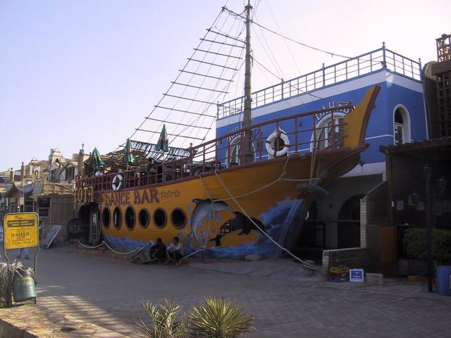 Boat bar, Dahab, Egypt