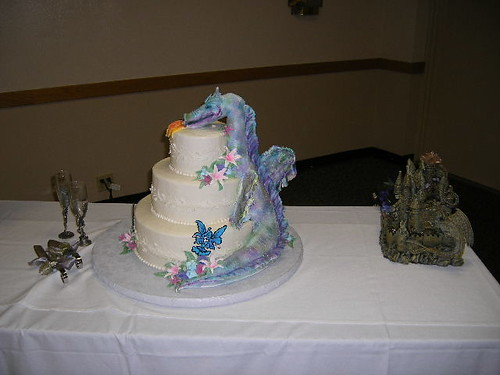 Wedding Cakes Dragons Wsith Scottish