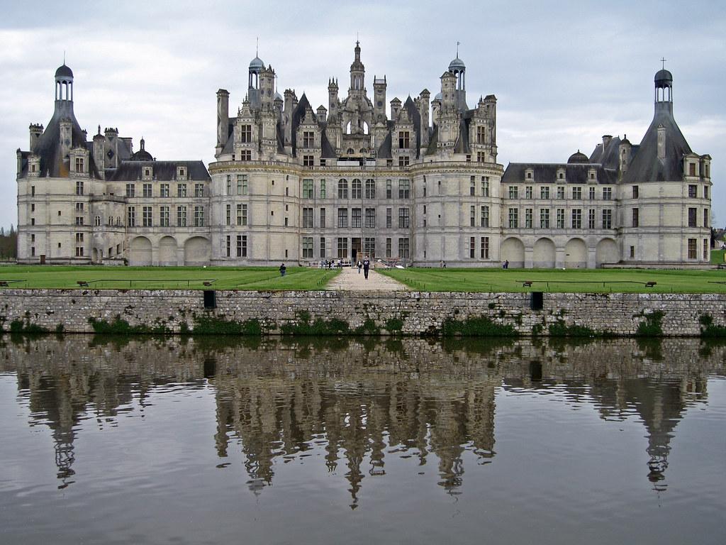 Symmetrical Chateau De Chambord Loire Valley France