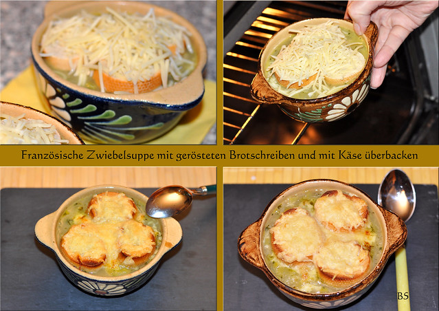 Französische Zwiebelsuppe Pariser Zwiebelsuppe mit Käse überbacken ... Fotos: Brigitte Stolle 2016