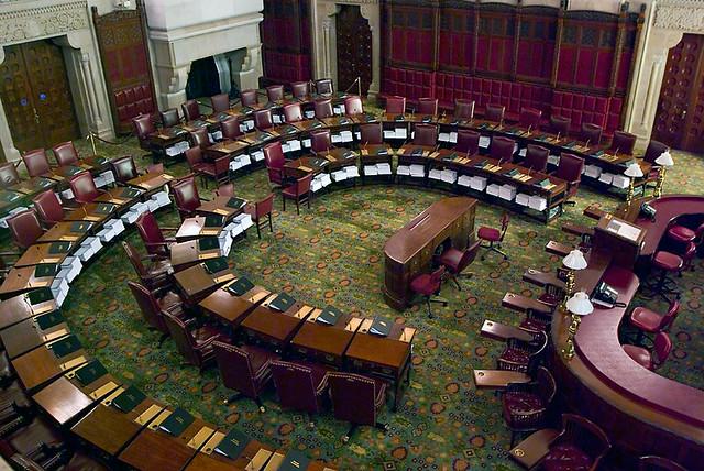 Ny State Senate Chamber Floor Of The Senate Chamber At