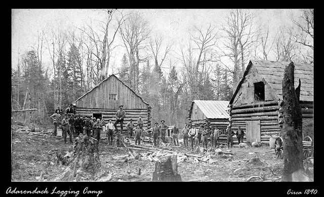 Adirondack Logging Camp A Logging Camp In The Adirondack