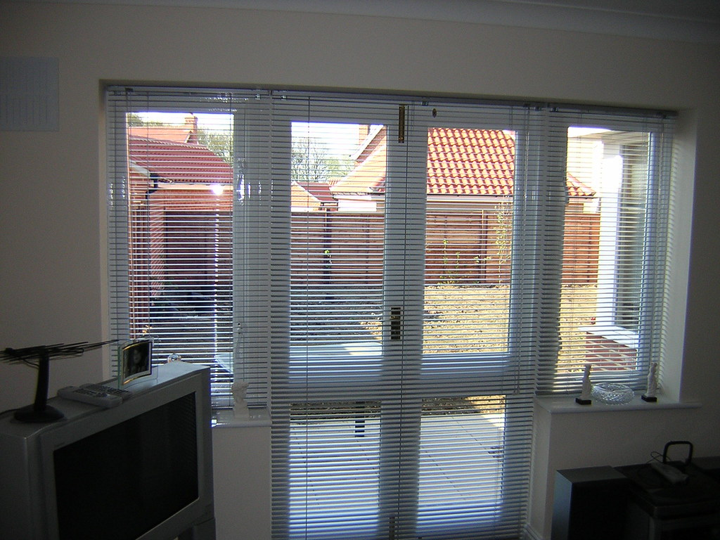 Silver Venetian Blinds French Doors Mercury Blinds Colchester