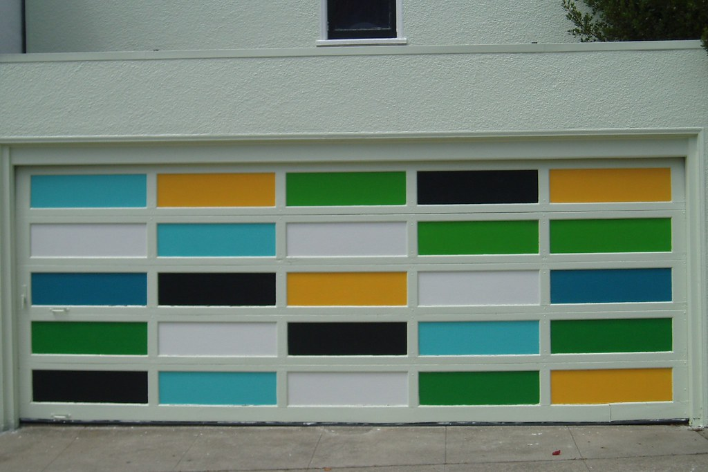 ... Multi Colored Garage Door - by Tom Hilton