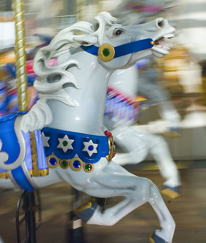 Riding along on a carousel, trying to catch up with you... | by Carlye Calvin