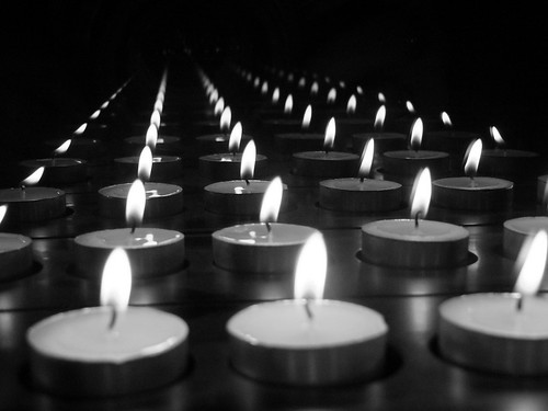 Reflecting candlelight in black and white | by Catriona67
