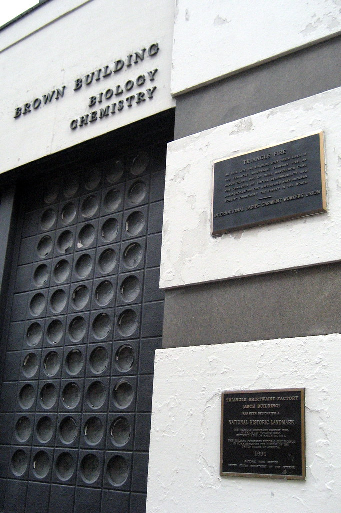 ... NYC - Greenwich Village: Brown Building - Triangle Shirtwaist Factory/Fire plaques | by