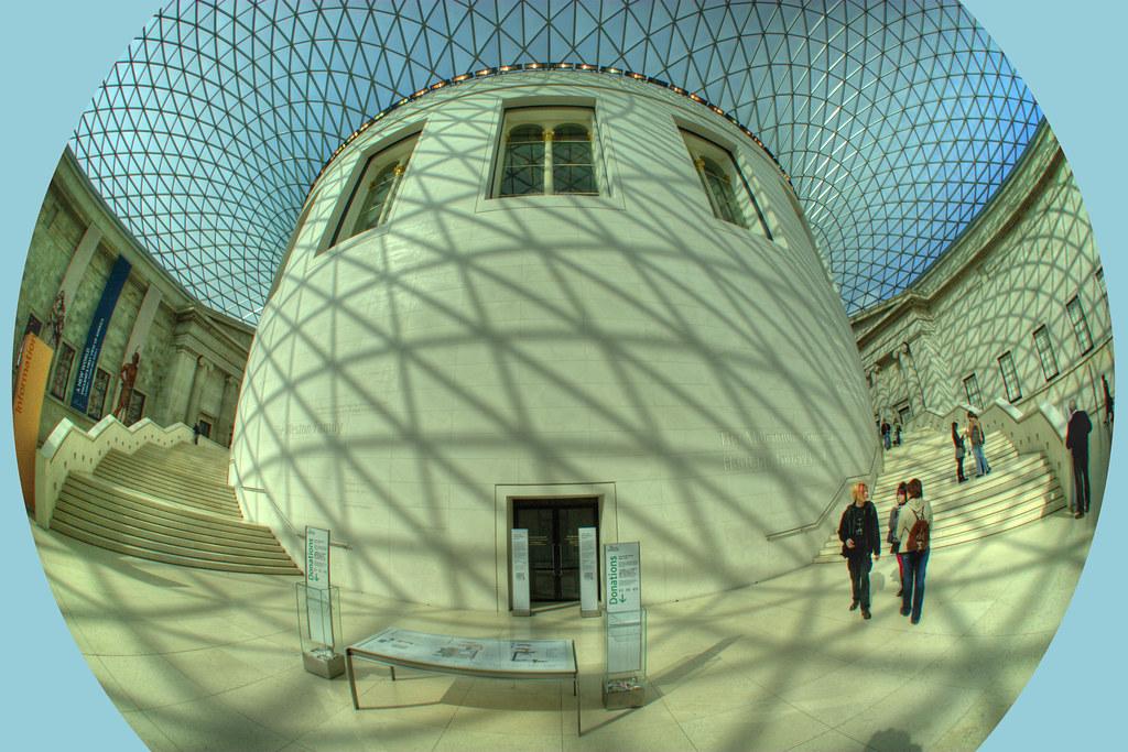 British Museum Foyer : The main foyer at british museum i love my fisheye